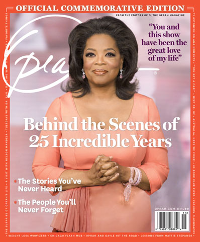 On May 25, 2011, Oprah hosted her final show. To celebrate the program's 25 years, I partnered with O and a team of editors to create this 148-page bookazine—an enduring written testimony of the wild dreams, side-aching laughs and triple-Kleenex moments that O shared with her audience.