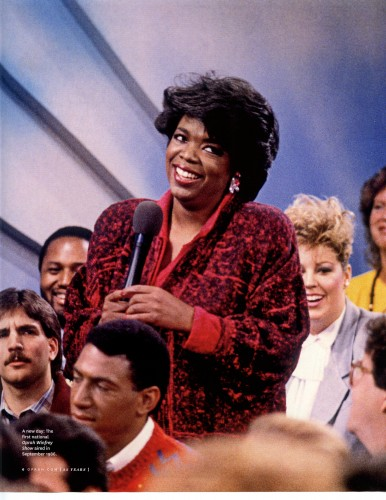 "The premiere episode of Oprah's national talk show aired on September 8, 1986. The topic: ""How to Marry the Man or Woman of Your Choice."" From day one, Oprah claimed the top spot in the ratings, even besting talk-show titan Phil Donahue. Oprah's show held onto that first-place ranking for its entire 25-season run."